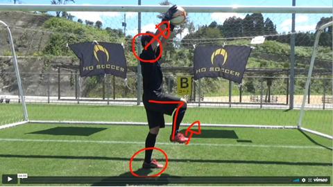 クロス:ハイボール時の空中姿勢